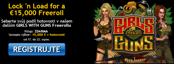 JackpoCity casino - Girls with Guns Freeroll o 15 000 €