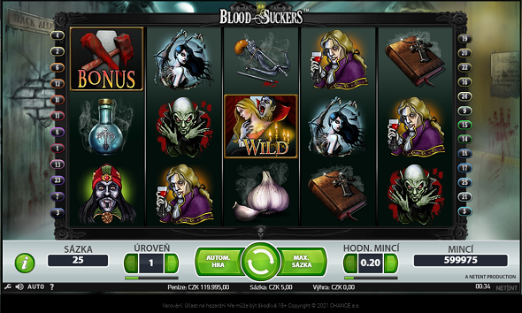 Online hrací automat Blood Suckers v online casinu Chance Vegas