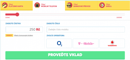 online casino platba pres sms