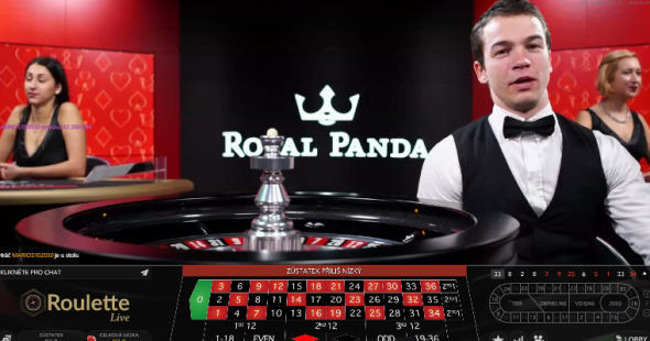 Royal Panda živá ruleta