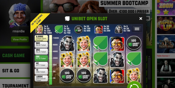 Unibet open slot!