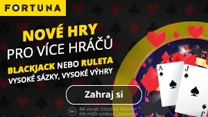 Online casino Fortuna - live blackjack a ruleta