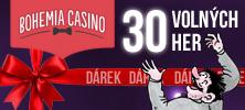 Dárek od Bohemia Casino - 30 her zdarma bez nutnosti vkladu
