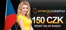 Energy casino - bonus 5 000 Kč a 150 Kč zdarma pro nové hráče