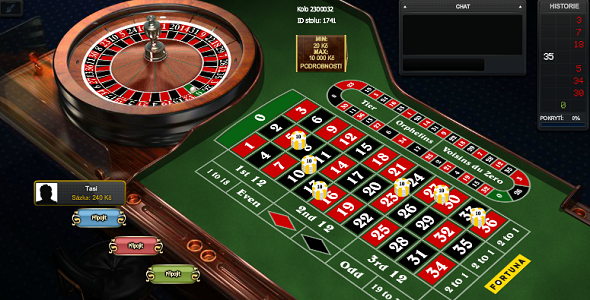 Ruleta ve Fortuna Casinu