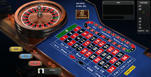 Evropská multiplayer ruleta na Fortuna Casinu
