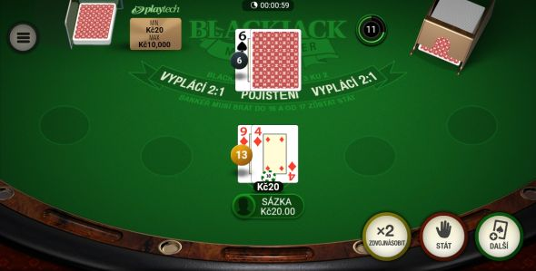 Multiplayer Blackjack ve Fortuně