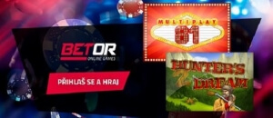 Registruj se do online casina Betor s automaty e-gaming zdarma