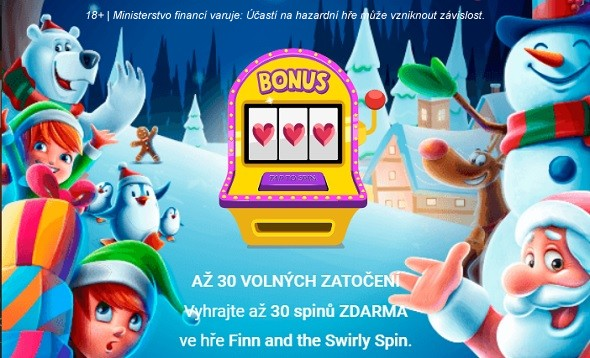 Až 60 free spinů ve hře Finn and the Swirly Spin