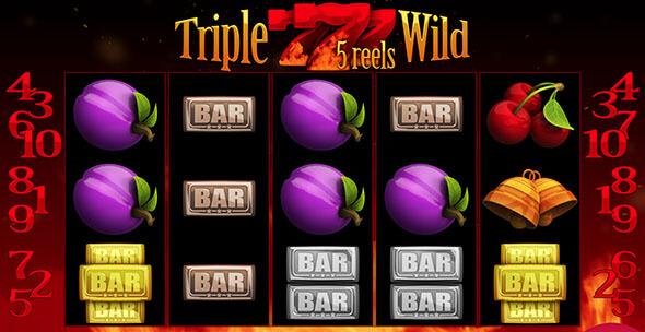 Výherní automat Triple Wild Seven 5 Reels