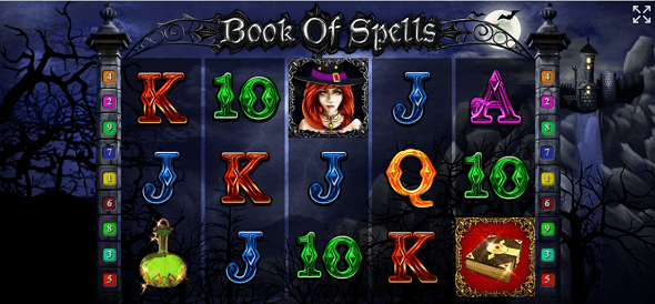 Online výherní automat Book of Spells od Tom Horn
