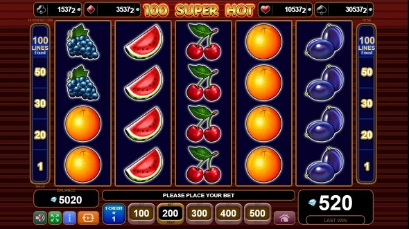 Online slot 100 Super Hot